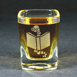 Book worm shot glass by Bread and Badger