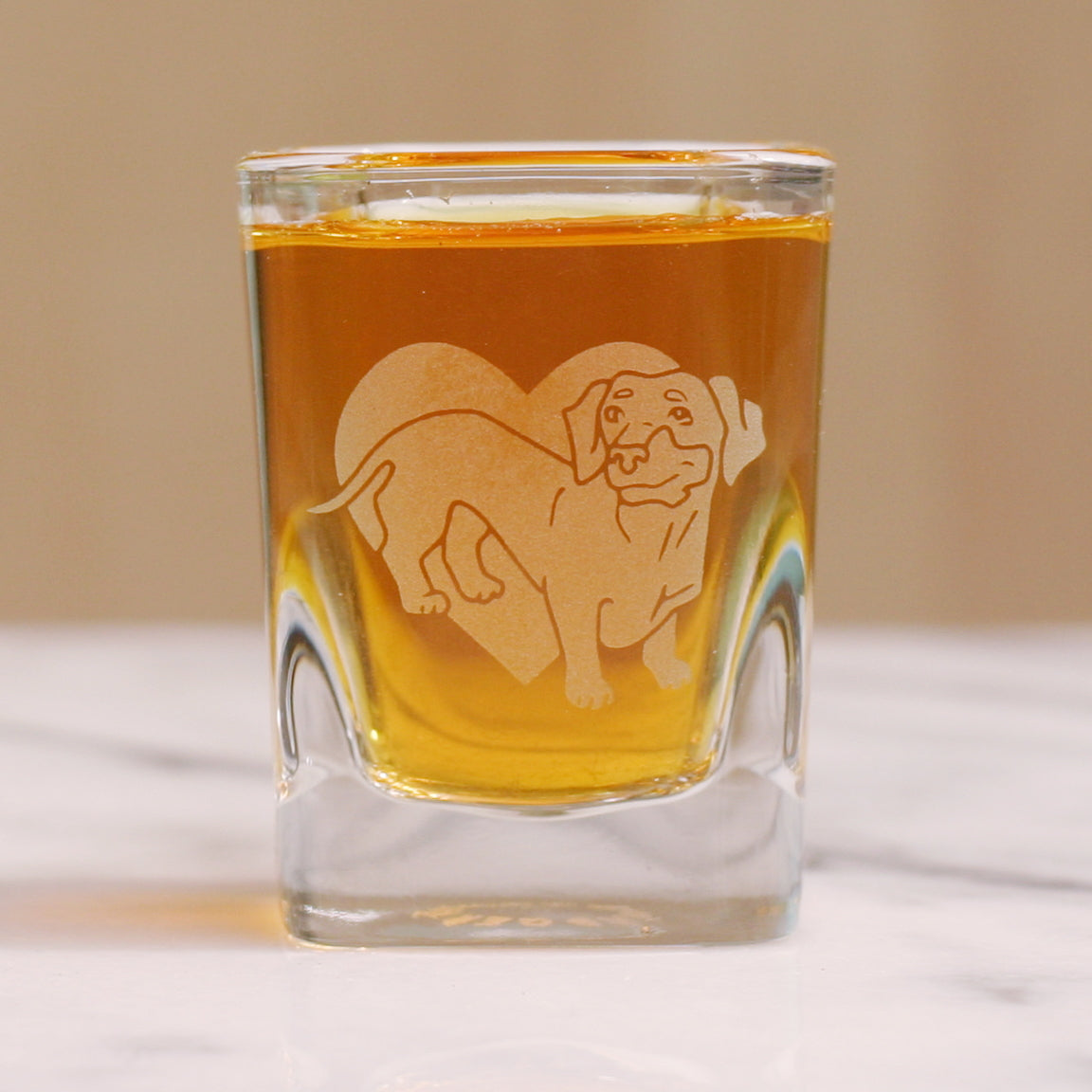Dachshund dog shot glass by Bread and Badger