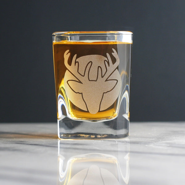 Deer Head shot glasses by Bread and Badger