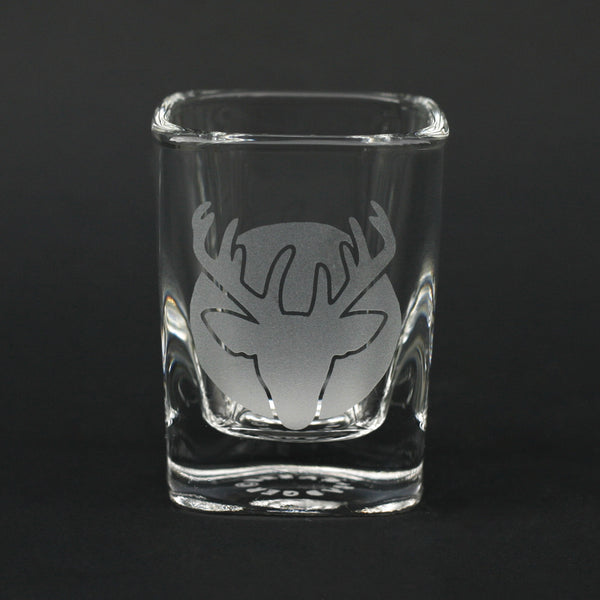 Deer Head square shot glass by Bread and Badger