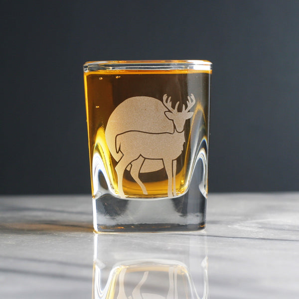 Deer shot glass by Bread and Badger