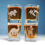 dinosaur shot glass set