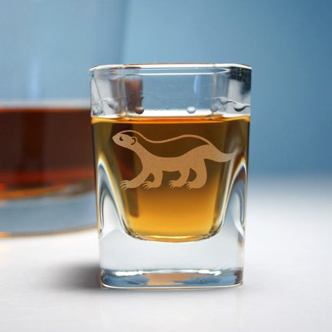 Honey Badger Shot Glass