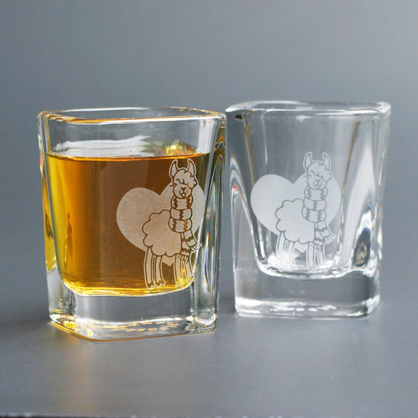 Llama shot glasses by Bread and Badger