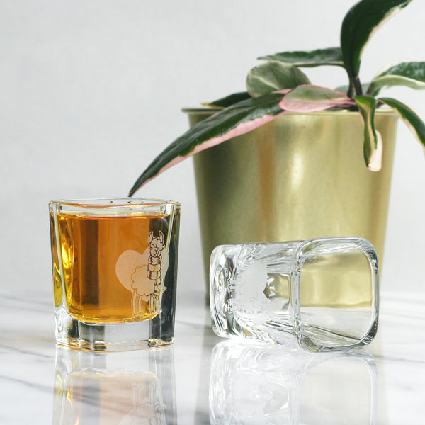 Alpaca shot glasses by Bread and Badger