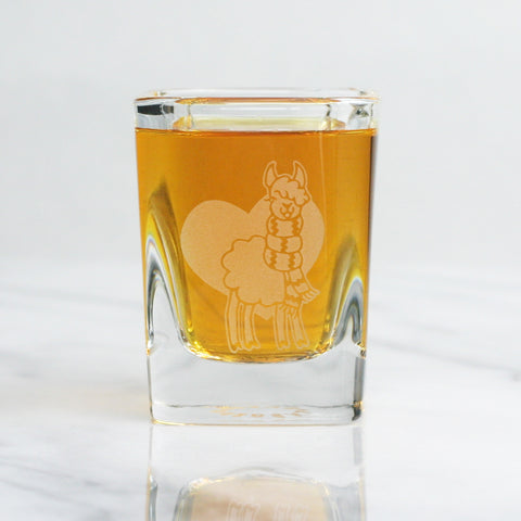 Llama shot glass by Bread and Badger