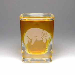 Manatee shot glass by Bread and Badger