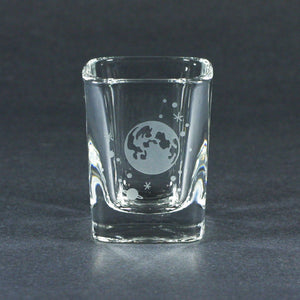 Moon and stars astronomical space shot glasses by Bread and Badger