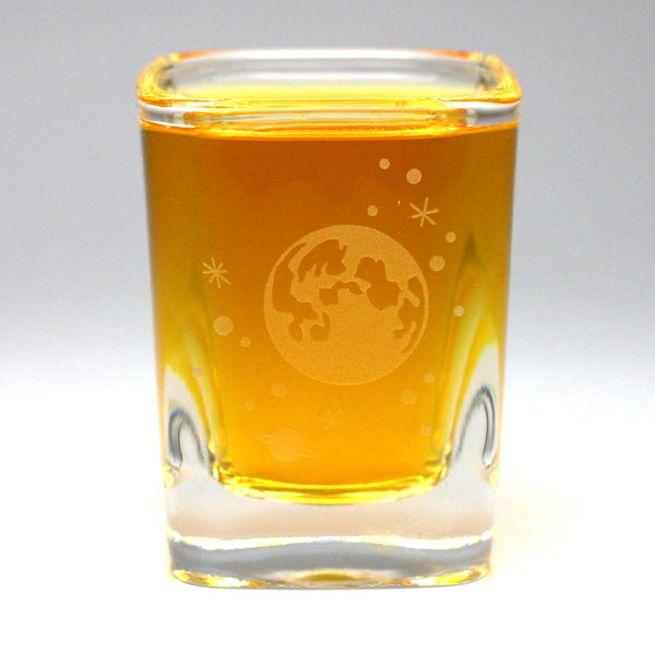 Full Moon and stars space shot glasses by Bread and Badger