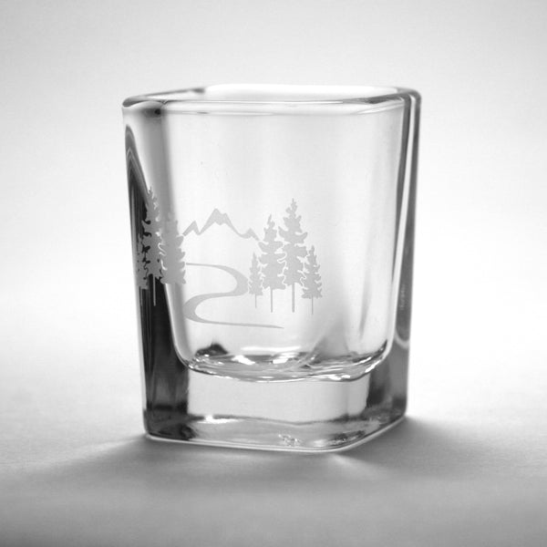 Mountain Trail adventure shot glass by Bread and Badger