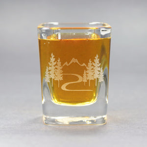 Mountain Trail shot glass by Bread and Badger