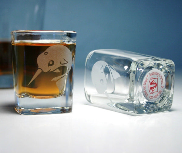 narwhal unicorn whale shot glass