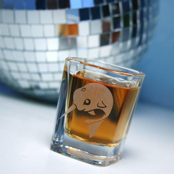 narwhal clear square shot glass