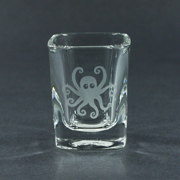 Octopus square shot glass