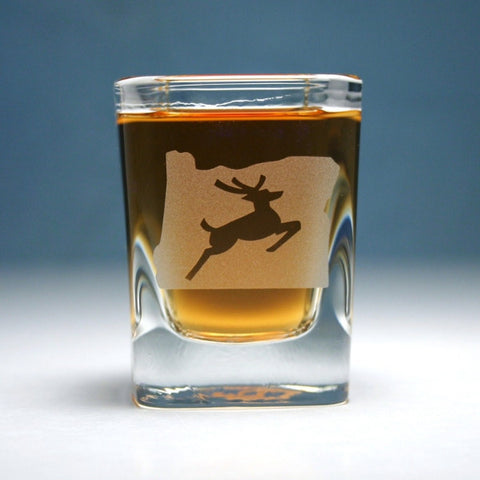 Oregon stag shot glass