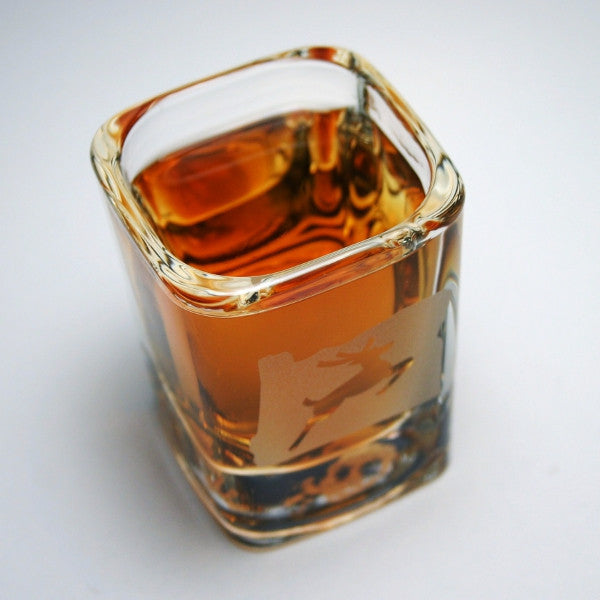 made in oregon stag shot glass