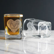 Pit Bull Dog Shot Glass (Retired)