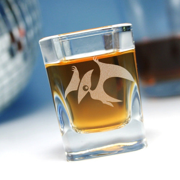 pterodactyl dinosaur shot glass