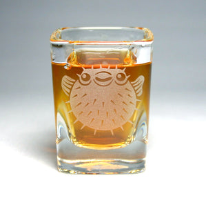puffer fish shot glass