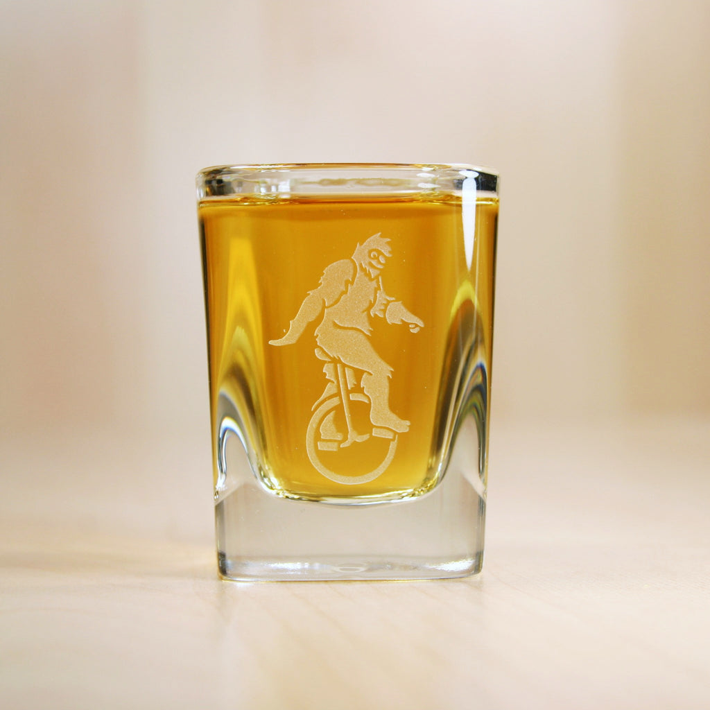 Sasquatch etched shot glasses
