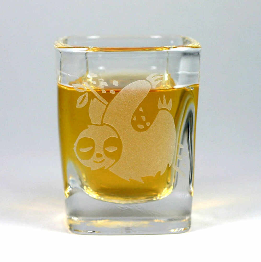 Sleepy Sloth shot glass by Bread and Badger