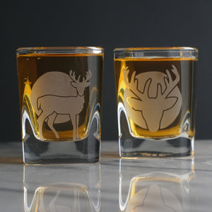 Deer shot glasses by Bread and Badger