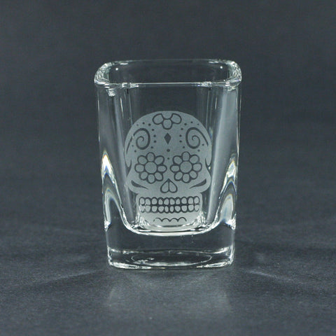 Day of the Dead shot glass by Bread and Badger