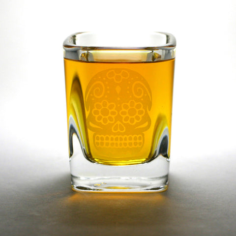Dia de los Muertos shot glass by Bread and Badger