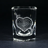 Tree Stump Heart Shot Glass (Retired)