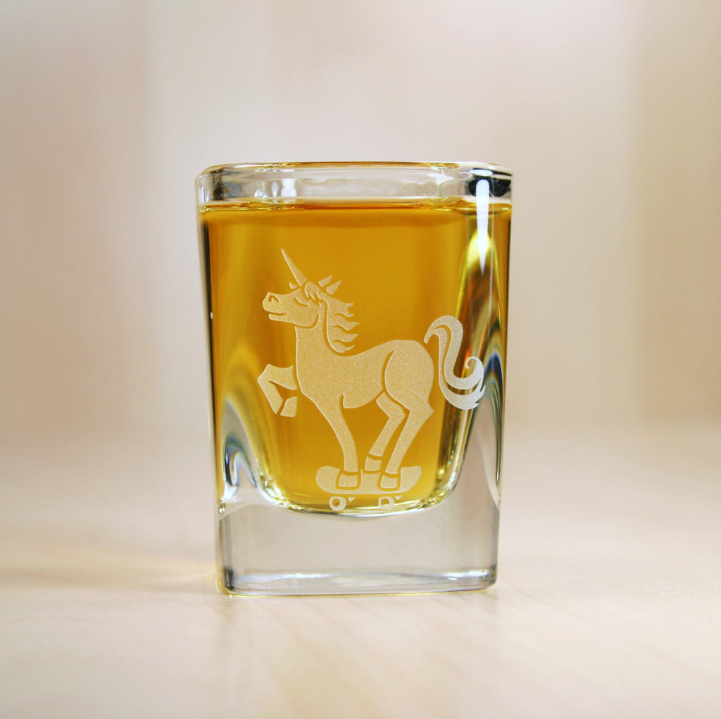 unicorn shot glass