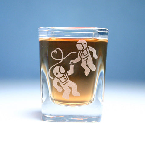 Astronaut Love Shot Glass