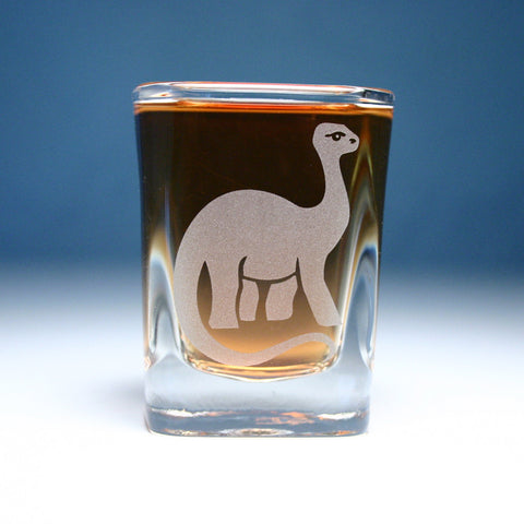 Brontosaurus Shot Glass