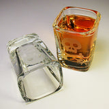 skull and bones square shot glasses