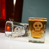 skull and crossbones shot glasses