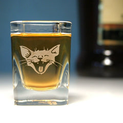Laughing Cat Shot Glass (Retired)