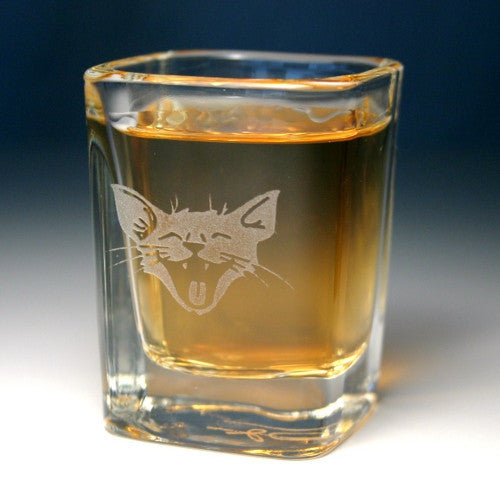 laughing lol cat shot glasses