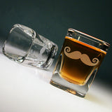 square mustache shot glasses