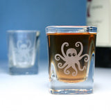 octopus square shot glasses