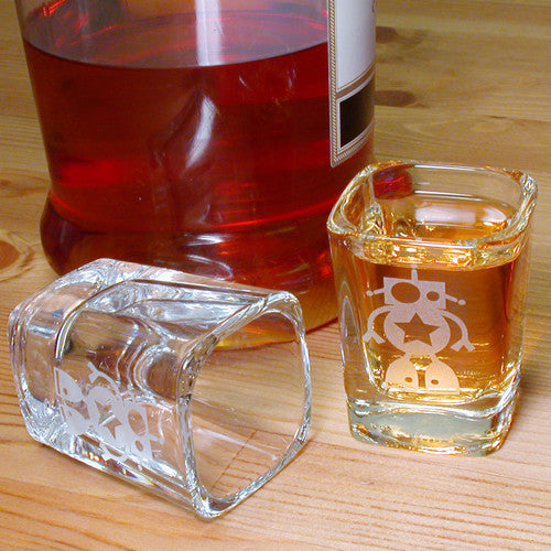 star robot shot glasses