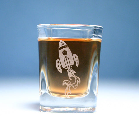 Rocket Ship Shot Glass