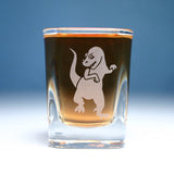 T-Rex dinosaur square shot glass