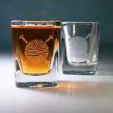 yarn square shot glasses