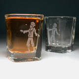 zombie man shot glasses