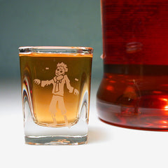 zombie etched shot glass