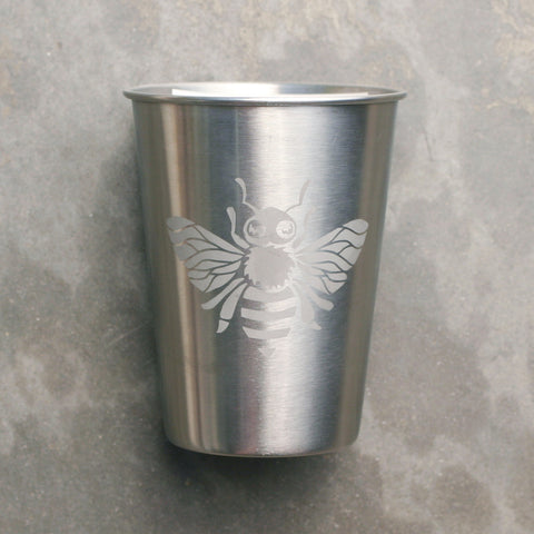 Bee 12oz stainless steel cup
