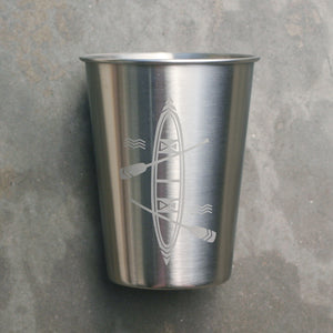 Canoe 12oz stainless steel cup