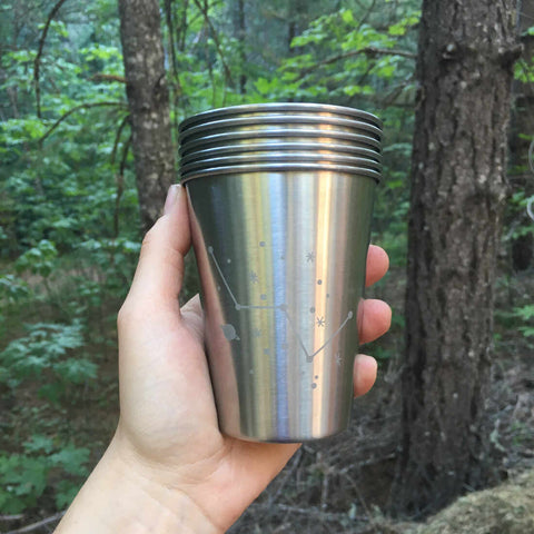 stackable 12oz stainless tumblers