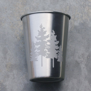 Family of Trees 12oz stainless steel cups by Bread and Badger