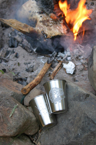 stainless tumblers are great for camping