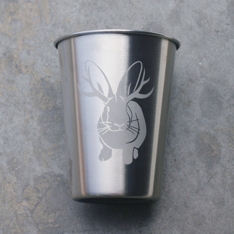 Jackalope 12oz stainless steel cup by Bread and Badger
